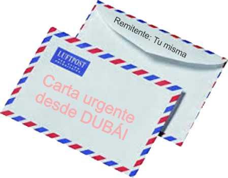 El sobre de una carta